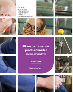 40 ans de formation pro - rapport CESE