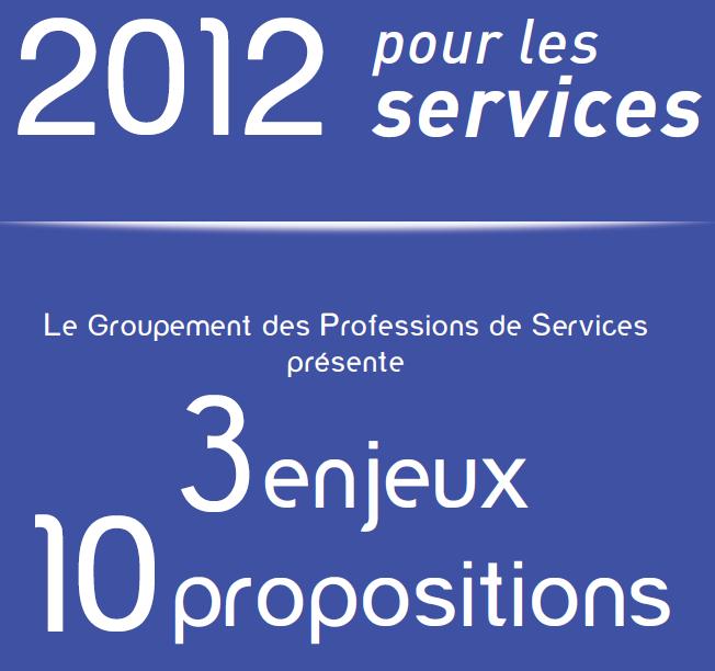 2012 pour les services