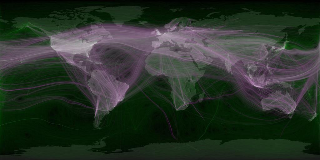 Carte mondiale des Tweets