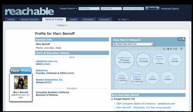 Reachable-Profil utilisateur individuel