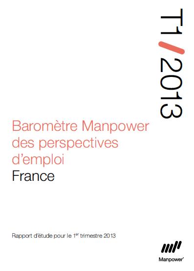 Baromètre Manpower des perspectives d'emploi - T1 2013