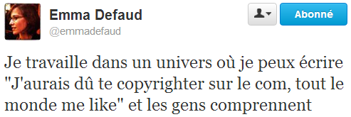 Tweet novlangue Defaud