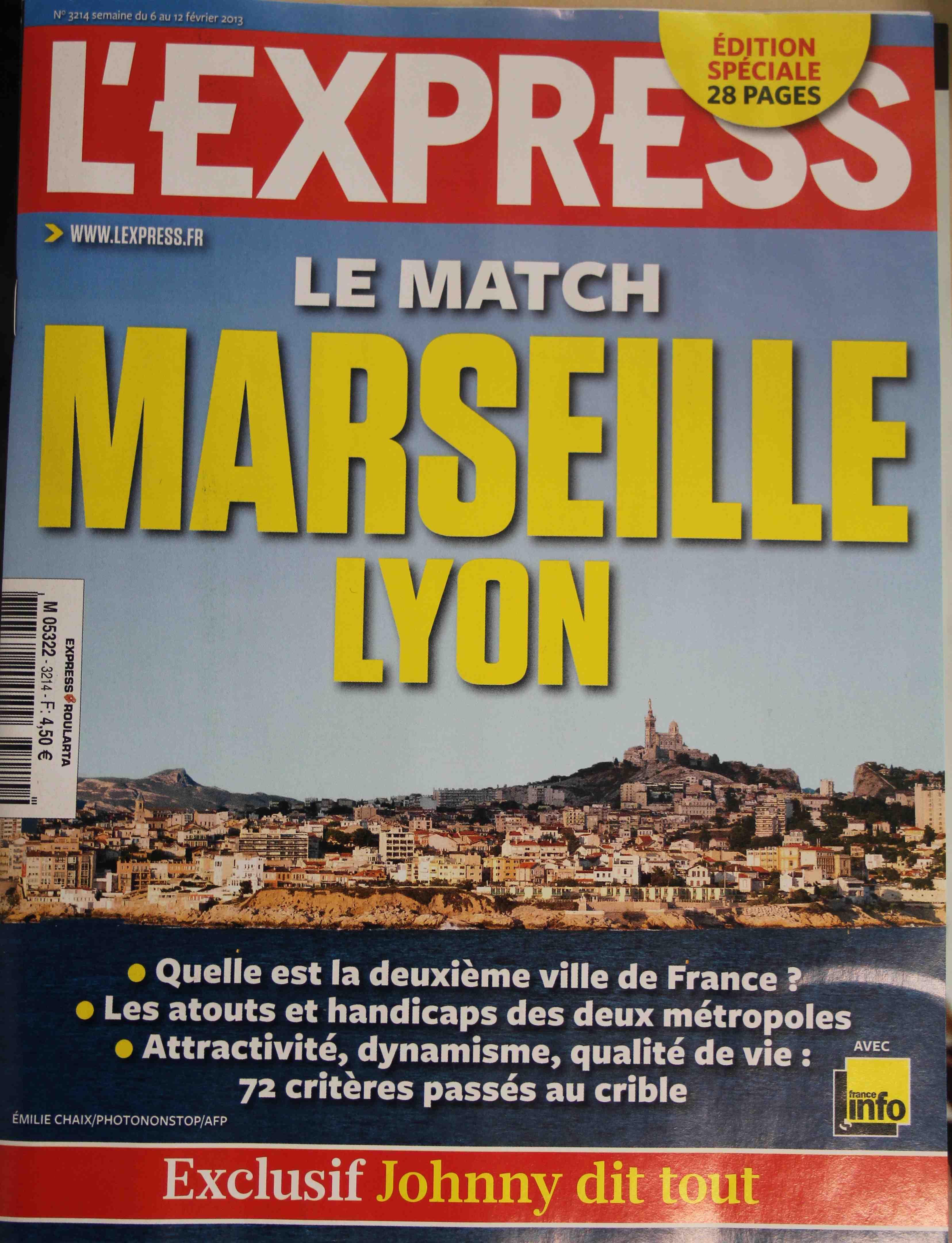 Une de L'Express cette semaine