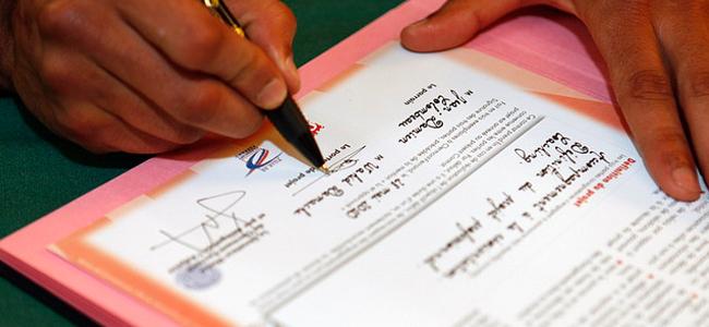 signature par intérim