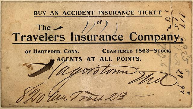 assurance ticket vintage ancienne