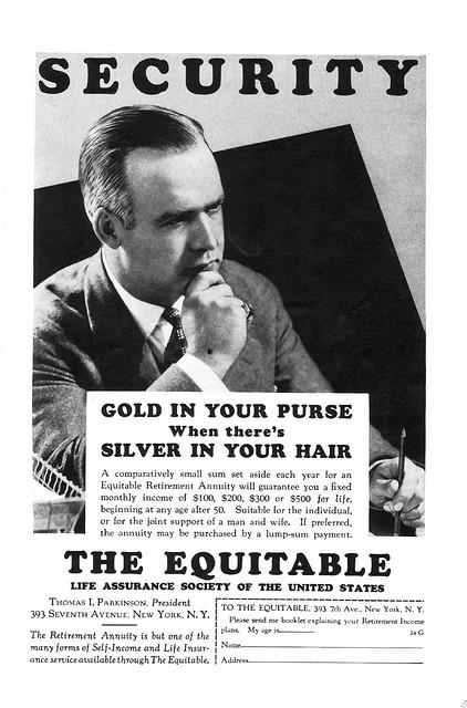 assurance vintage pub affiche