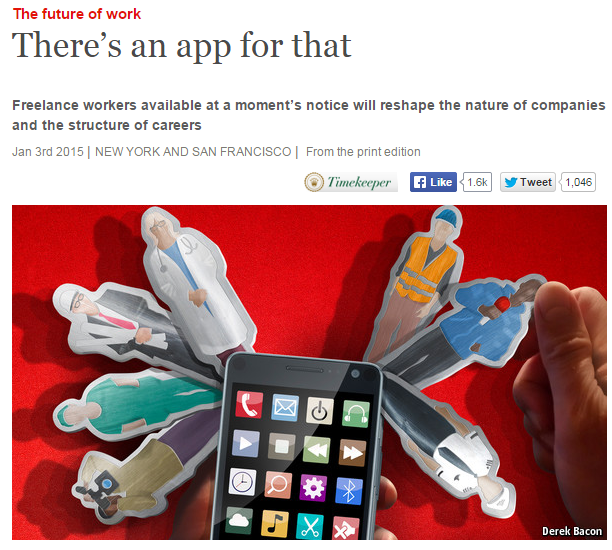 "Article de The Economist ""There's an app for that"""