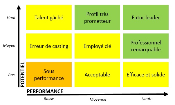 Identification des talents : 9 box grid