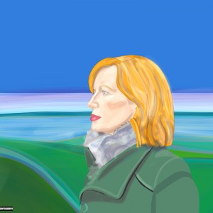 nerosureno - woman in landscape