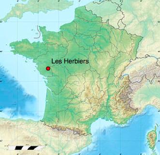 Les herbiers map - Cuisiniste les herbiers ...