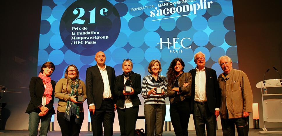 21e prix littéraire de la Fondation ManpowerGroup S'accomplir et HEC Paris : les lauréats
